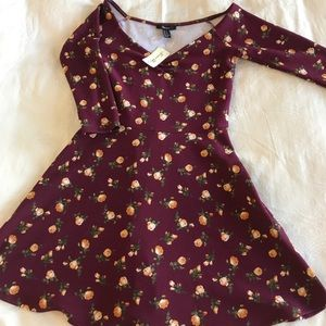 NWT burgundy skater dress
